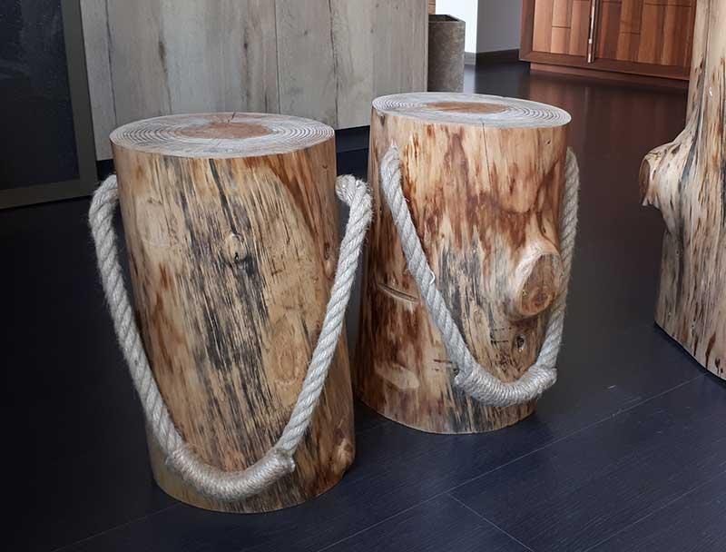 Sgabelli in legno di cedro sgabello ceppo conti design shop