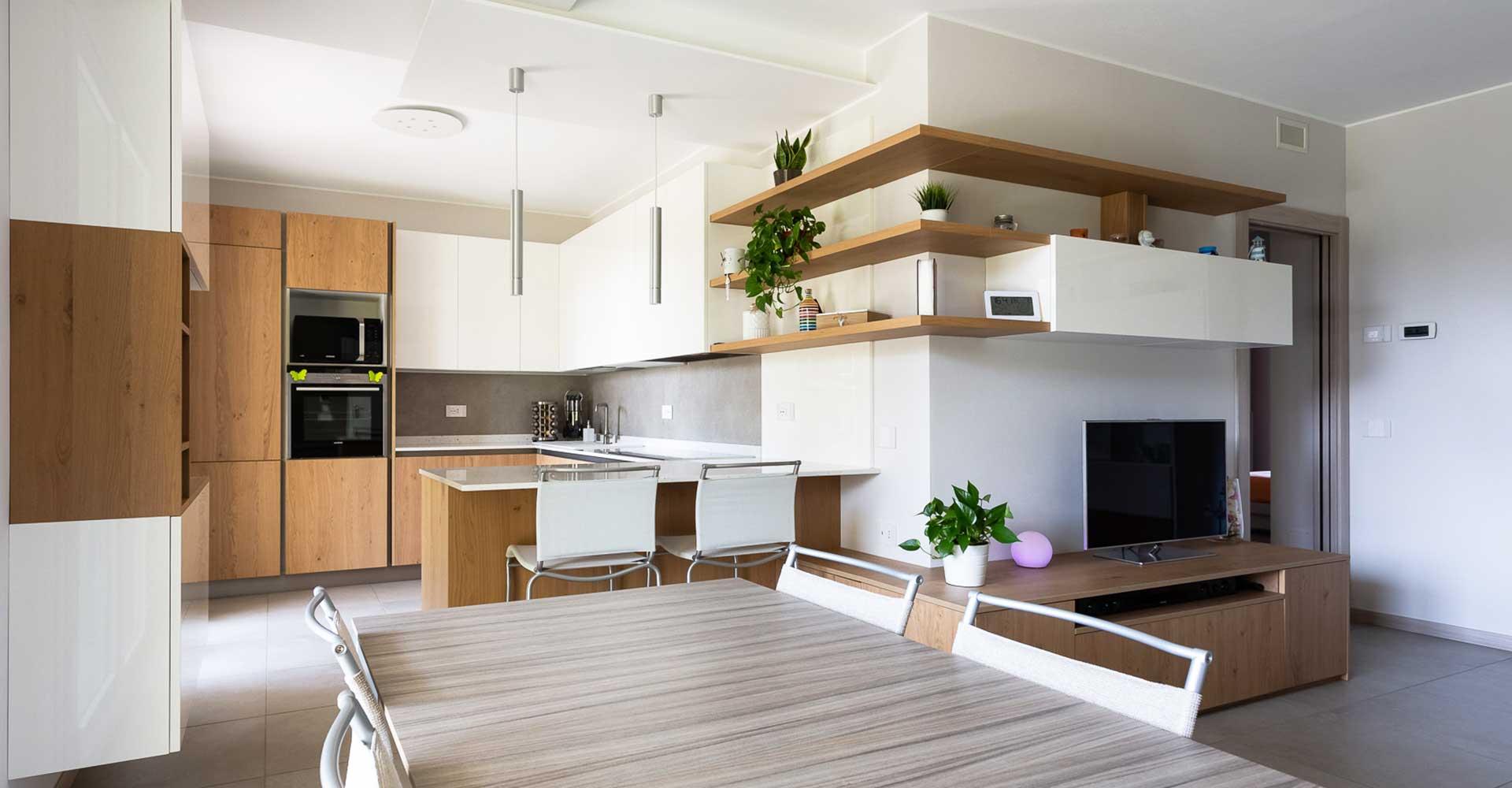 Arredamento su misura per cucina e soggiorno a Lecco, Como, Monza Brianza e Milano